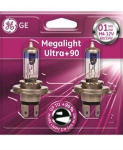 Автомобилни крушки GE 50440SXU MEGA LIGHT ULTRA +90% H4 12V 60/55W комплект