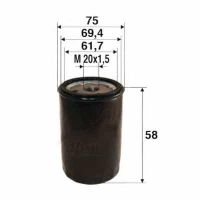 Маслен филтър (586050 - VALEO)
