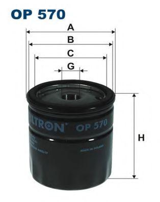 Маслен филтър (OP 570 - FILTRON)
