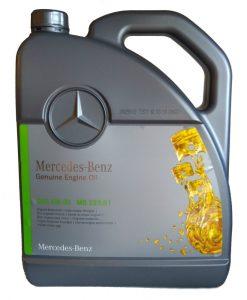 Оригинално масло MERCEDES BENZ MB A 000 989 94 02 13 229.51 5W30- 5L