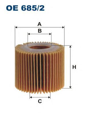 Маслен филтър (OE 685/2 - FILTRON)