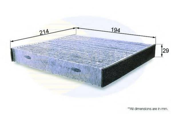 Филтър въздух за вътрешно пространство (EKF185A - COMLINE)