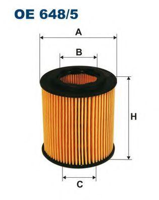 Маслен филтър (OE 648/5 - FILTRON)