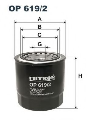 Маслен филтър (OP619/2 - FILTRON)