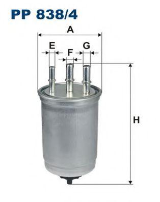 Горивен филтър (PP 838/4 - FILTRON)