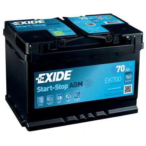 Акумулатор EXIDE AGM 70AH 760A R+