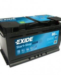 Акумулатор EXIDE AGM 80AH 800A R+