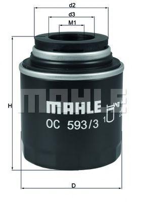 Маслен филтър (OC593/3 - KNECHT)