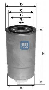 Горивен филтър (24.H2O.00 - UFI)
