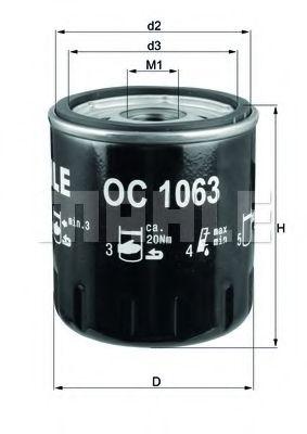 Маслен филтър (OC1063 - KNECHT)