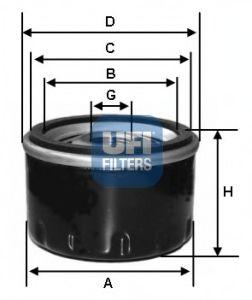 Маслен филтър (23.476.00 - UFI)