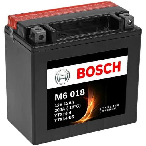 Акумулатор BOSCH M6 AGM YTX14-BS 12AH 200A 12V L+