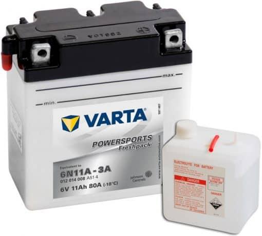 Акумулатор VARTA POWERSPORTS FRESHPACK 11AH 80A 6V R+