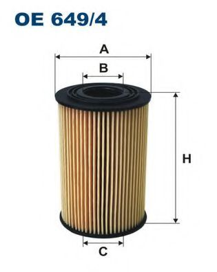 Маслен филтър (OE649/4 - FILTRON)