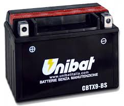 Акумулатор UNIBAT CBTX9-BS 12V/8AH