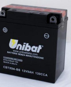 Акумулатор UNIBAT CBTX9A-BS 12V/9AH