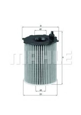 Маслен филтър (OX171/2D - KNECHT)