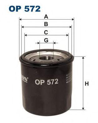 Маслен филтър (OP572 - FILTRON)