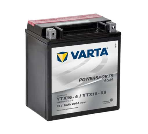 Акумулатор VARTA POWERSPORTS AGM YTX16-BS 14AH 210A 12V L+