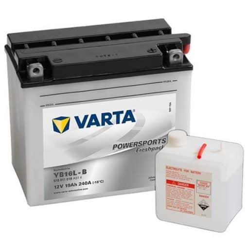Акумулатор VARTA POWERSPORTS YB16L-B 19AH 190A 12V R+