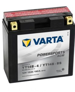 Акумулатор VARTA POWERSPORTS AGM YT14B-BS 13AH 190A 12V L+