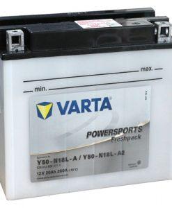 Акумулатор VARTA POWERSPORTS Y50-N18L-A2 20AH 260A 12V R+