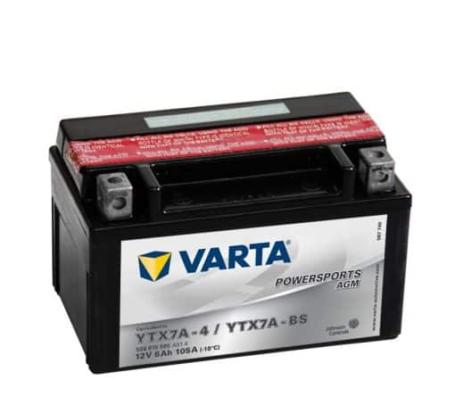Акумулатор VARTA POWERSPORTS YTX7A-BS 6AH 105A 12V L+