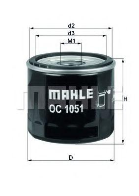 Маслен филтър (OC1051 - KNECHT)
