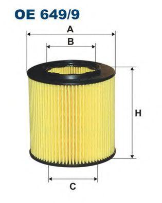 Маслен филтър (OE 649/9 - FILTRON)