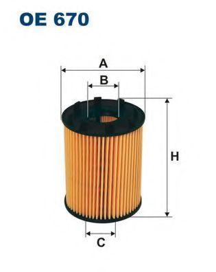 Маслен филтър (OE670 - FILTRON)