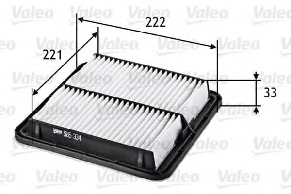 Въздушен филтър (585334 - VALEO)
