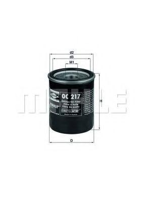 Маслен филтър (OC217 - KNECHT)
