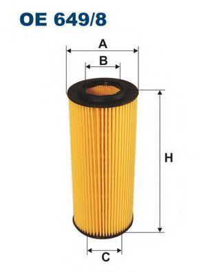 Маслен филтър (OE 649/8 - FILTRON)