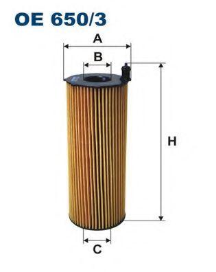 Маслен филтър (OE 650/3 - FILTRON)