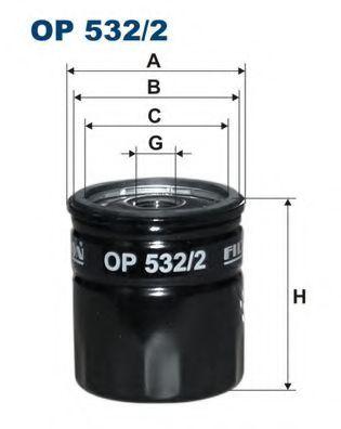 Маслен филтър (OP 532/2 - FILTRON)
