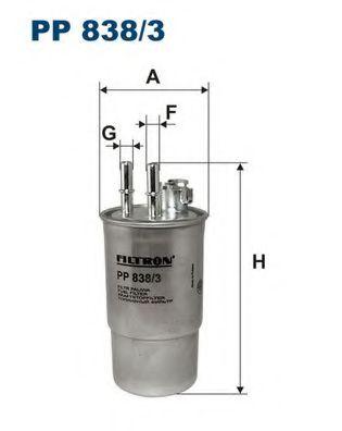 Горивен филтър (PP 838/3 - FILTRON)