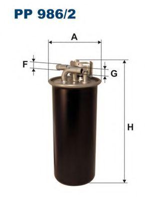 Горивен филтър (PP 986/2 - FILTRON)