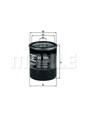 Маслен филтър (OC196 - KNECHT)