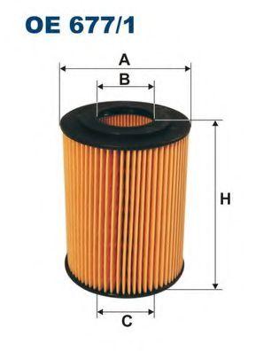 Маслен филтър (OE677/1 - FILTRON)