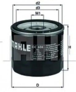 Маслен филтър (OC606 - KNECHT)