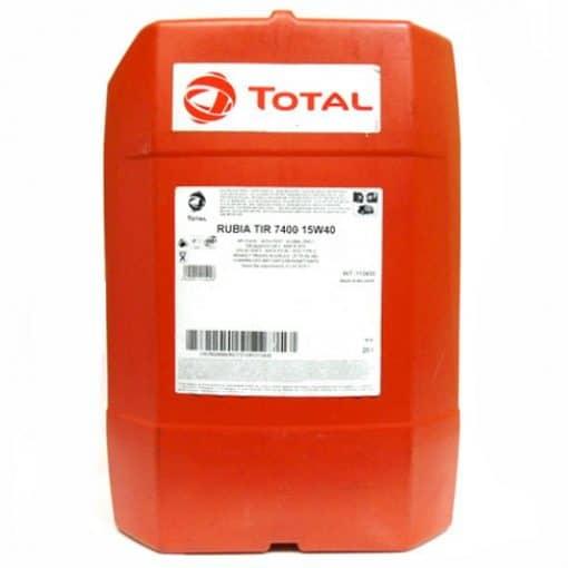 Масло TOTAL RUBIA TIR 7400 15W40 – 20 литра