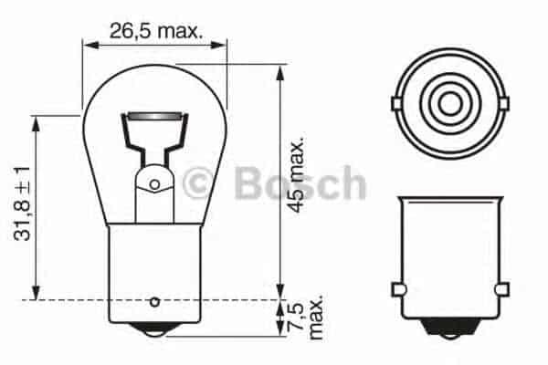 Крушка с нагреваема жичка (1987302280 - BOSCH)