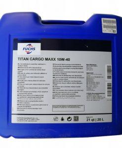 Масло FUCHS TITAN CARGO MAXX 10W40 20L
