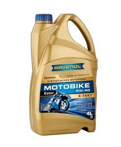 Масло RAVENOL Motobike 4-T Ester 5W40 4L