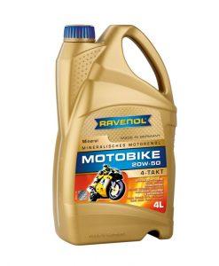 Масло RAVENOL Motobike 4-T Mineral 20W50 4L